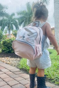 Little Girl with Backpack